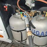 Plnící hliníkové láhve na LPG pro obytné vozy